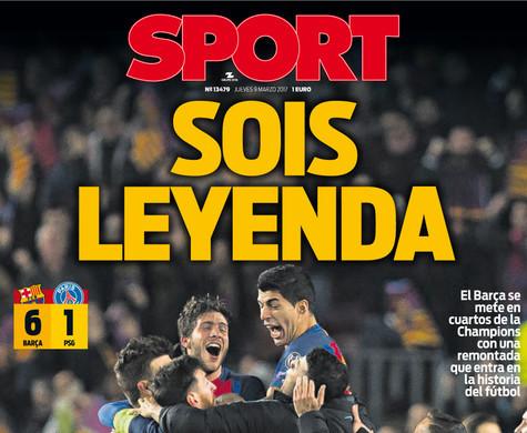 Barça - PSG, una sprufundata storica