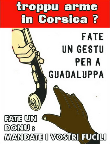 Sustenite a rivolta in Guadaluppa : mandate e vostre arme !