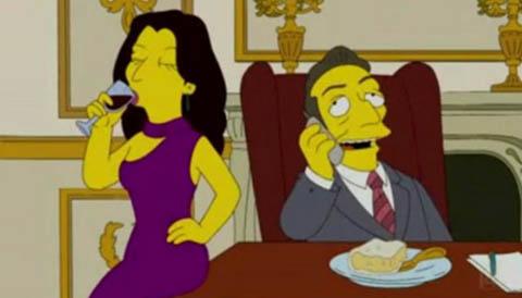 Sarkozy contr'à Homer Simpson !