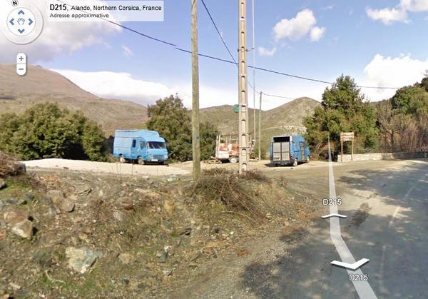 A Corsica nant'à Google Street View