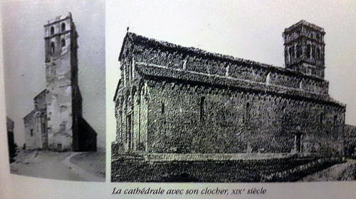 A Catedrale cù u so campanile distruttu in u 1888