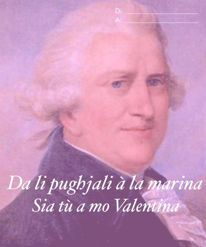 Per San Valentinu, manda a to cartulina d'amore pulitica