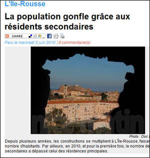 Sempre di più residences secondaires...