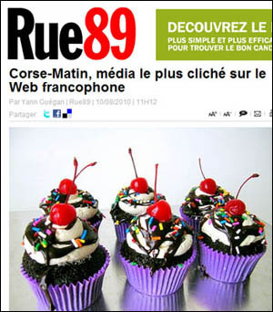 Corse-Matin, media u menu originale
