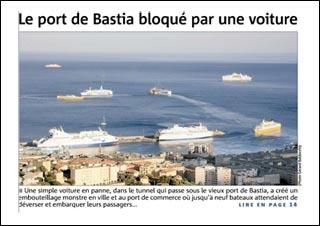 Bluccate a Corsica, cascate in panna