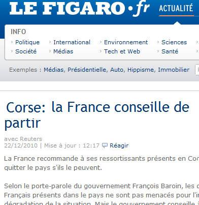 Chì si passa à u Figaro ?