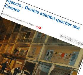 Attentatu in Aiacciu : caffè corsi à i Corsi !