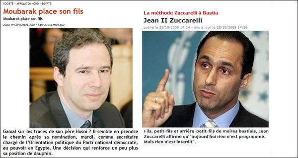 Gamal Mubarak è Jean Zuccarelli : u peghju hè ch'ellu ci hè veramente una sumiglia...
