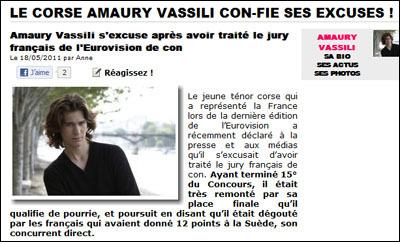 Amaury Vassili vìttima di razzisimu anti corsu ?