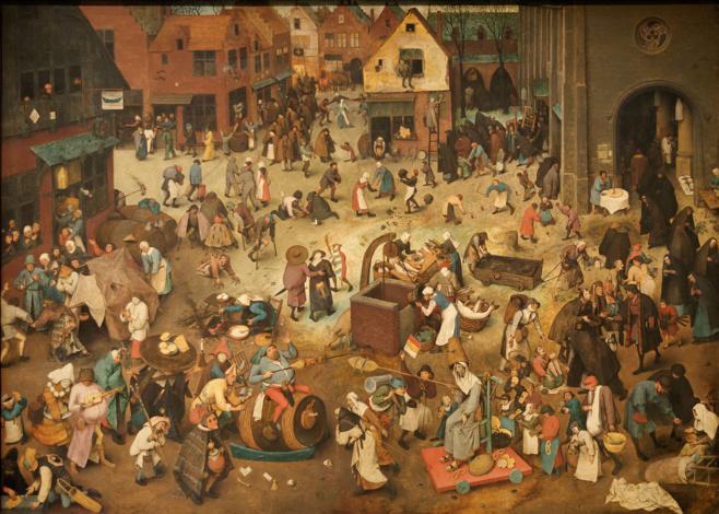 A lotta trà Carnavale è Quaresima, Pieter Brueghel u vechju