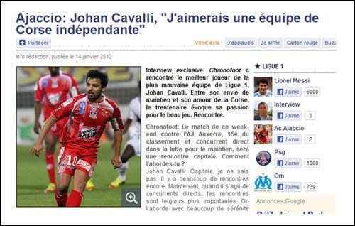 Johan Cavalli per l'indipendenza di a Corsica !
