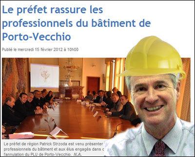 U prefettu custruisce a Corsica di dumane