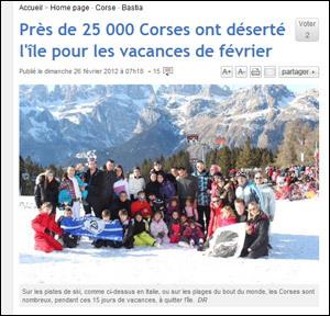 25.000 Corsi sò partuti à u ski, ma manghjanu e paste