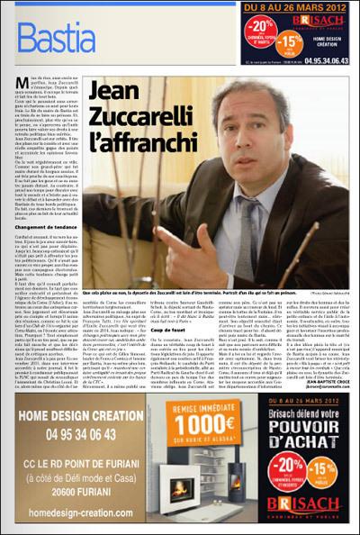 Una publicità pè René Brisach è Jean-Jean in Corse-Matin