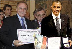 L'UMP vole dà u premiu Nobel di a pace à Sarkozy