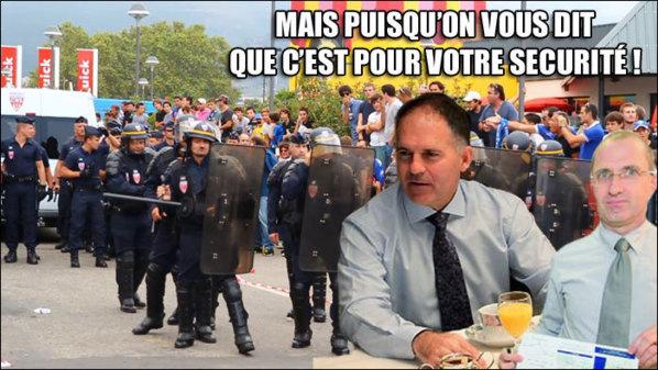 Louis Le Franc prefettu di Corsica Suprana è Denis Mauvais u so direttore di cabinettu, i grandi vincitori di a serata (cù u PSG).