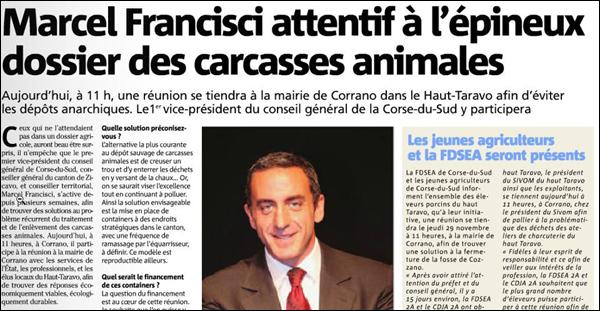 A suluzione di Francisci pè a crisa à l'UMP