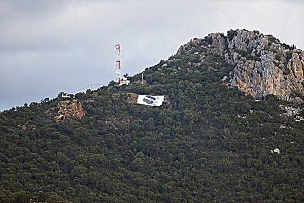 Bandera corsa nant'à a Punta Calcina, in Conca