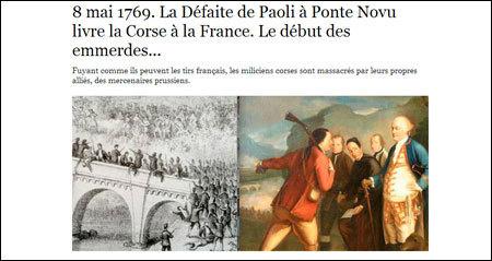 Simu d'accusentu, in Ponte Novu cummencianu i castichi.