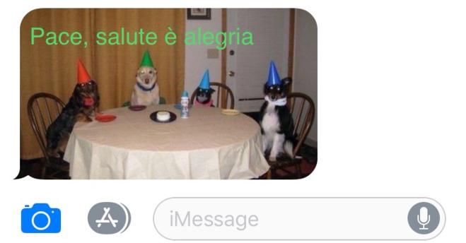 Chì SMS d'auguri mandà ?
