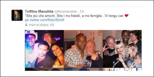 In tantu, Maoulida manda i so tweets in corsu...