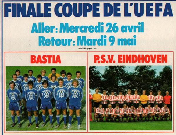 26 d'aprile di u 78 : Bastia in finale di a cuppa d'Auropa