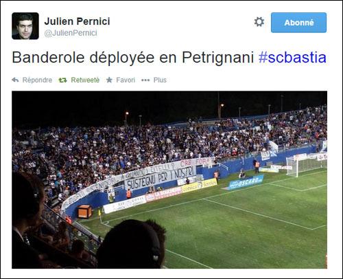 """Furiani, in tribuna Est : """"Cummercianti, studienti, sustenidori, à quandu i zitelli ? CRS fora"""""""