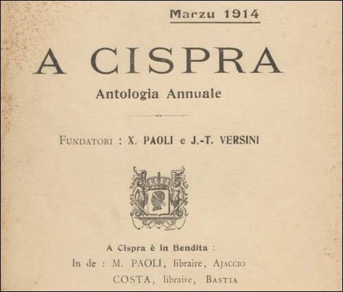 100 anni fà escia A Cispra