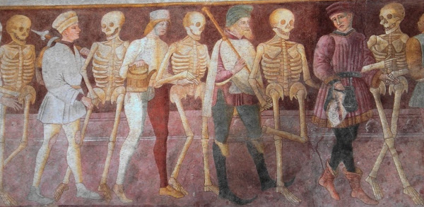 """""""Danza macabra"""", affrescu in Clusone, pruvincia di Bergamo"""