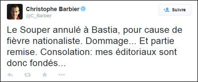 Barbier suspesu in Bastia : a so reazzione