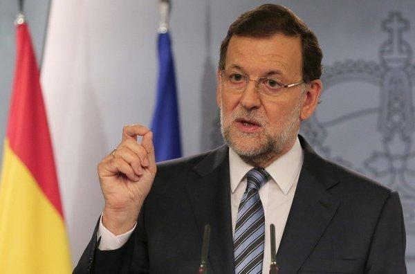Mariano Rajoy, presidente di u guvernu spagnolu (Partido Popular, di diritta)
