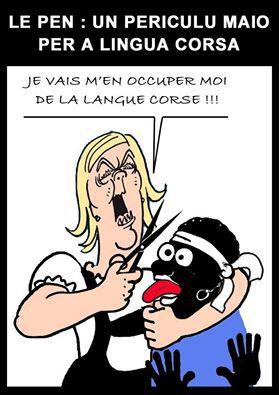 Le Pen è a lingua corsa...