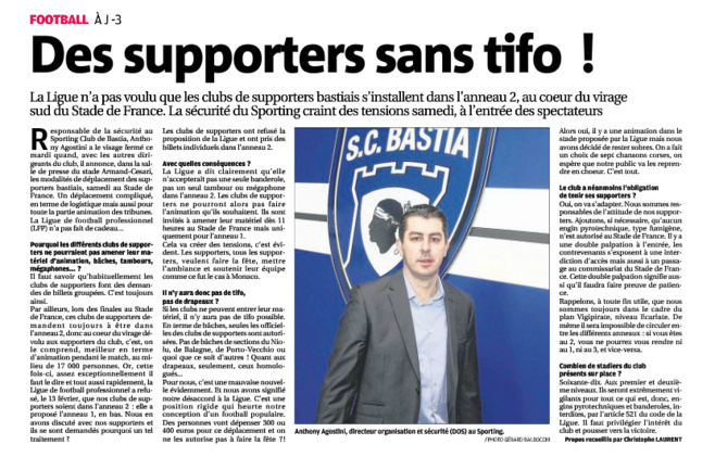 « Pourvu que ce soit Monaco, si c'est Bastia, ça va être une catastrophe. »