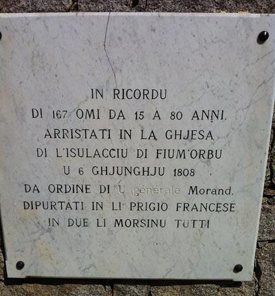 6 di ghjugnu di u 1808 : Fiumorbu marturiatu