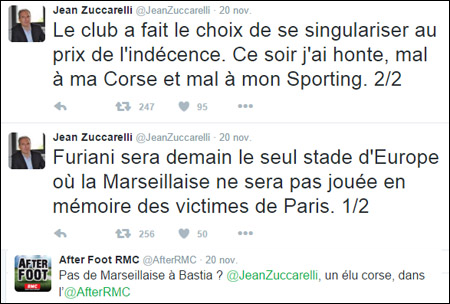 MarseillaiseGate : trè ghjorni d'isteria