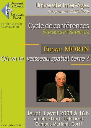 Edgar Morin à l'Università di Corsica !