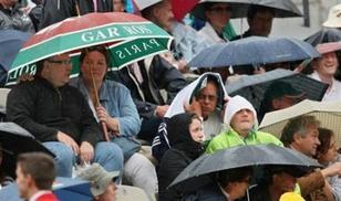 roland-garros, tennis, tribuna, stadiu, furiani, piove, acqua, paracqua, ballò,