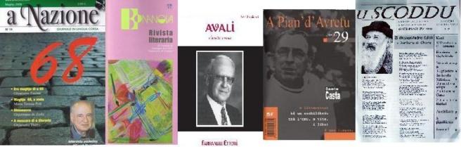 A Nazione, Bonanova, À Pian d'Avretu, Avali è u Scoddu sò tanti puntelli di a pruduzione scritta in lingua corsa.