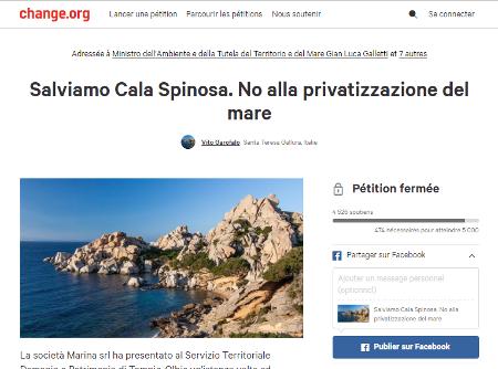 A battaglia pè a difesa di u mare in Sardegna