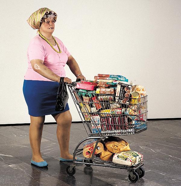 Supermarket Lady, opera di Duane Hanson (1969)