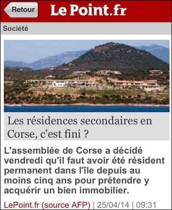 """""""Les résidences secondaires en Corse, c'est fini ?"""""""