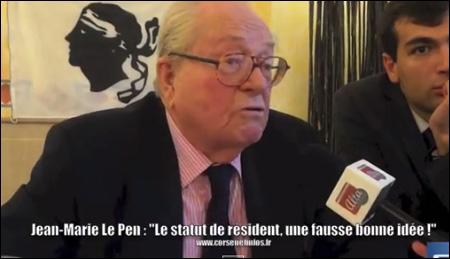 """Le Pen : """"la Corse appartient aux Français"""""""