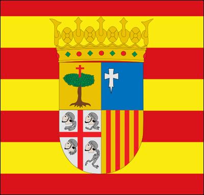 Detagliu di a bandera di l'Aragone