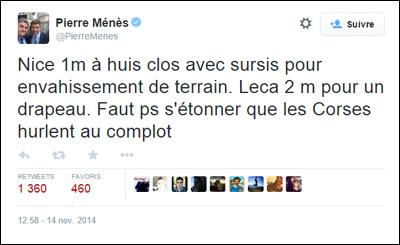 È avà, avemu ricuperatu à Pierre Ménès...