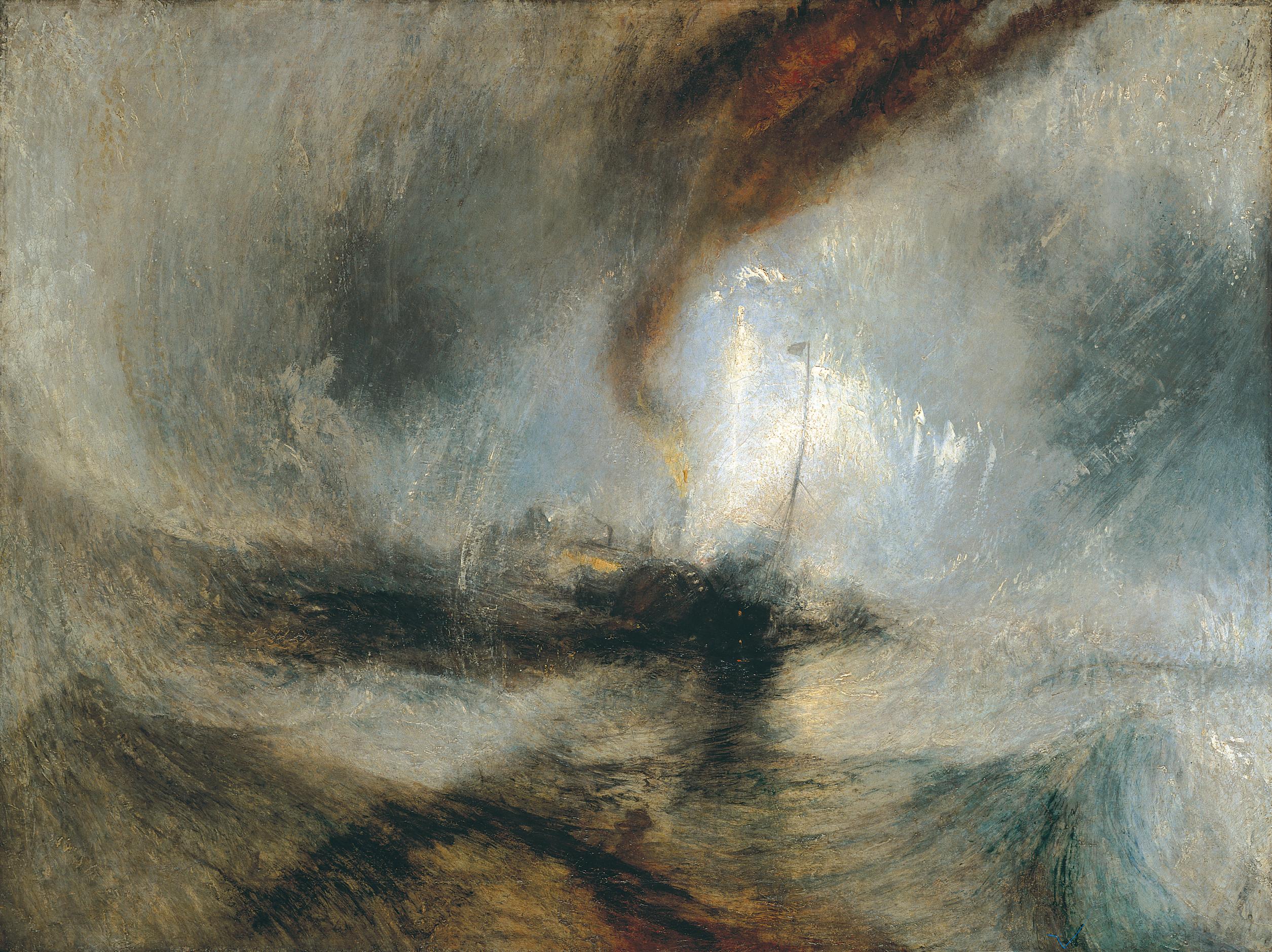 Timpesta di neve in mare , 1842