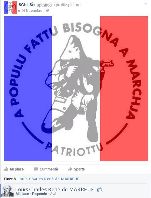 L'attentati di Parigi visti da a Corsica