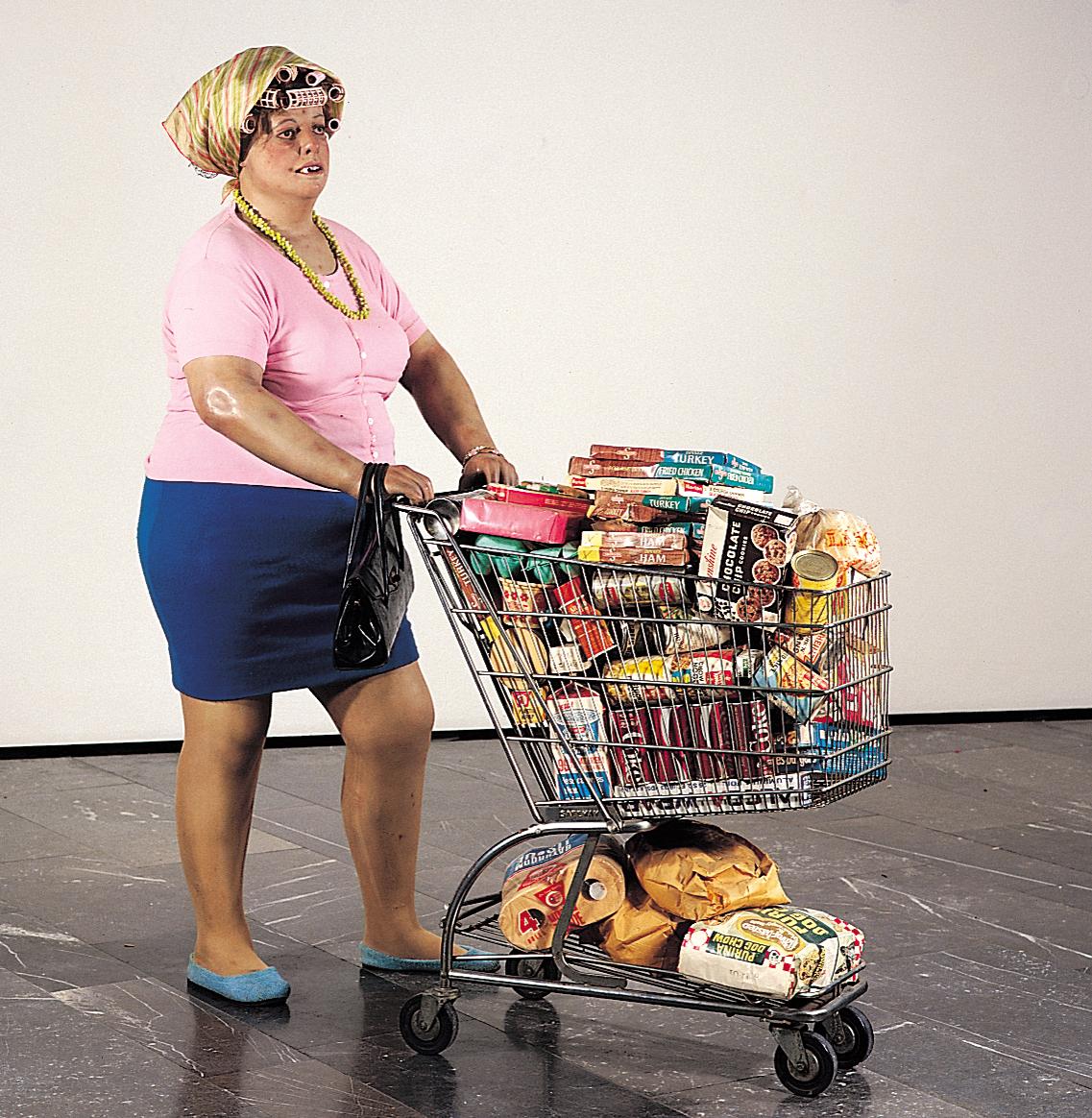 Supermarket Lady, scultura di Duane Hanson (1970)