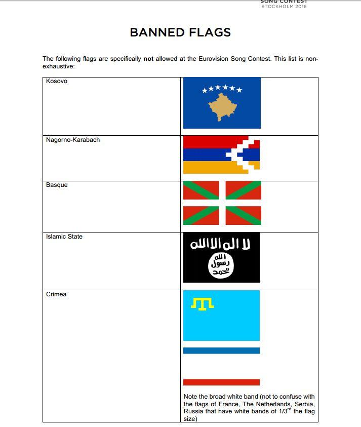 Festa ! A bandera corsa hè sbandita da l'Eurovision
