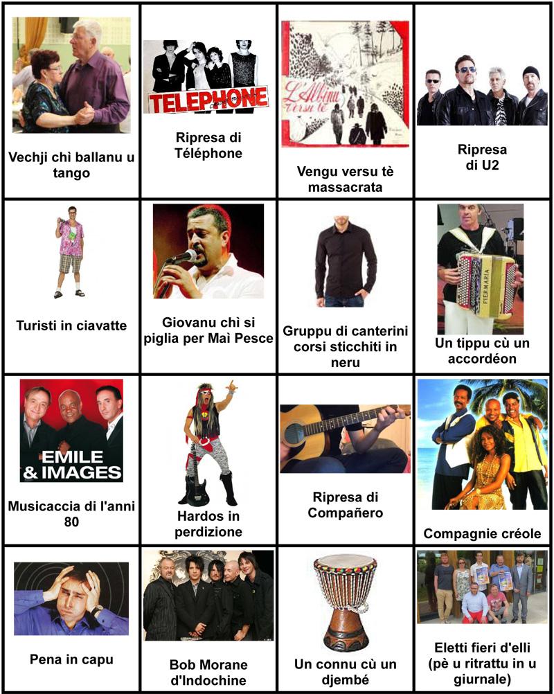 U nostru bingo di a festa di a musica