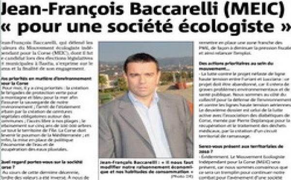 A cacciata di u ghjornu di Jean-François Baccarelli
